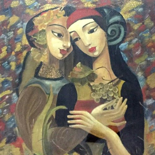 friends, 22 x 36 inch, balbir art  gallery,22x36inch,canvas,paintings,abstract paintings,modern art paintings,conceptual paintings,portrait paintings,abstract expressionism paintings,paintings for dining room,paintings for living room,paintings for bedroom,paintings for office,paintings for bathroom,paintings for hotel,oil color,GAL01076530230