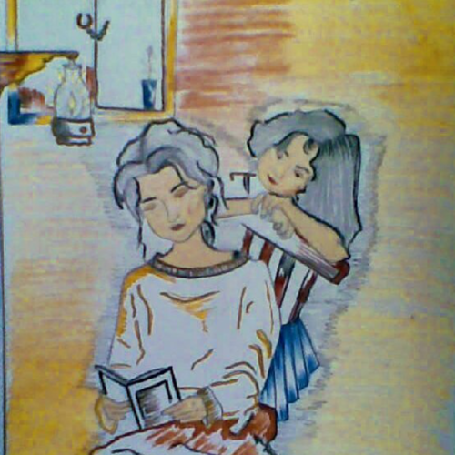 under the lamp, 12 x 16 inch, shinam bedi,12x16inch,paper,paintings,figurative paintings,modern art paintings,conceptual paintings,expressionism paintings,contemporary paintings,paintings for dining room,paintings for living room,paintings for bedroom,paintings for office,paintings for bathroom,paintings for kids room,paintings for hotel,paintings for kitchen,paintings for school,paintings for hospital,paintings for dining room,paintings for living room,paintings for bedroom,paintings for office,paintings for bathroom,paintings for kids room,paintings for hotel,paintings for kitchen,paintings for school,paintings for hospital,mixed media,pen color,pencil color,poster color,GAL01863230244