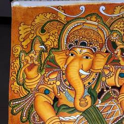 ganesha kerala mural painting , 19 x 28 inch, priya  sreejith,19x28inch,canvas,paintings,kerala murals painting,acrylic color,GAL01869530247