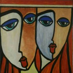 lifetime friends, 24 x 29 inch, shalini singh,modern art paintings,paintings for living room,canvas,acrylic color,24x29inch,GAL011773025