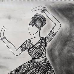 dance is classic, just like time, 12 x 16 inch, sonam pama,12x16inch,thick paper,drawings,figurative drawings,pen color,GAL01869630251