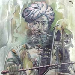rajasthani singer, 27 x 30 inch, balbir art  gallery,27x30inch,canvas,paintings,figurative paintings,portrait paintings,paintings for dining room,paintings for living room,paintings for bedroom,paintings for office,paintings for bathroom,paintings for hotel,oil color,GAL01076530266
