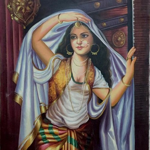 dancer, 36 x 54 inch, balbir art  gallery,36x54inch,canvas,paintings,figurative paintings,portrait paintings,portraiture,paintings for dining room,paintings for living room,paintings for bedroom,paintings for office,paintings for bathroom,paintings for hotel,oil color,GAL01076530267