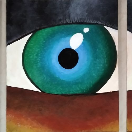 broken eye, 26 x 10 inch, smitha g krishnan,26x10inch,canvas board,paintings,abstract paintings,multi piece paintings,conceptual paintings,abstract expressionism paintings,expressionism paintings,paintings for dining room,paintings for living room,paintings for bedroom,paintings for office,paintings for bathroom,paintings for kids room,paintings for hotel,paintings for kitchen,paintings for school,paintings for hospital,acrylic color,GAL01502430275