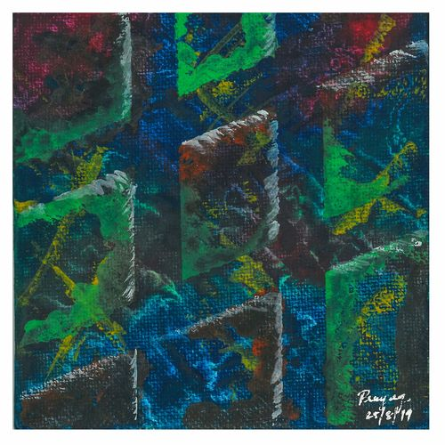hashtag, 4 x 4 inch, prayag jadhav,4x4inch,canvas board,paintings,abstract paintings,paintings for living room,paintings for office,paintings for hotel,acrylic color,GAL01860430280