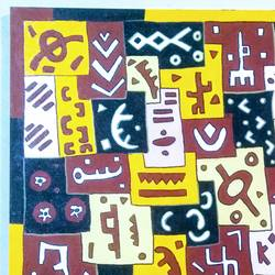 kuba_i_series2, 36 x 36 inch, scharada dubey,36x36inch,canvas,abstract paintings,folk art paintings,contemporary paintings,paintings for dining room,paintings for living room,paintings for office,paintings for hotel,paintings for school,paintings for hospital,paintings for dining room,paintings for living room,paintings for office,paintings for hotel,paintings for school,paintings for hospital,acrylic color,pen color,GAL01779230282