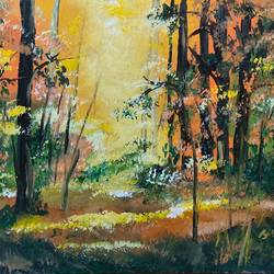 forest light, 11 x 8 inch, subhash gijare,11x8inch,canvas,paintings,wildlife paintings,landscape paintings,kids paintings,paintings for dining room,paintings for living room,paintings for bedroom,paintings for office,paintings for bathroom,paintings for kids room,paintings for hotel,paintings for kitchen,paintings for school,paintings for hospital,acrylic color,GAL013830296