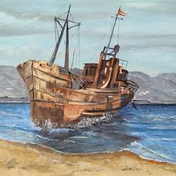 lost ship, 16 x 12 inch, subhash gijare,16x12inch,canvas,landscape paintings,nature paintings | scenery paintings,realistic paintings,paintings for dining room,paintings for living room,paintings for bedroom,paintings for office,paintings for bathroom,paintings for kids room,paintings for hotel,paintings for kitchen,paintings for school,paintings for hospital,paintings for dining room,paintings for living room,paintings for bedroom,paintings for office,paintings for bathroom,paintings for kids room,paintings for hotel,paintings for kitchen,paintings for school,paintings for hospital,acrylic color,GAL013830300