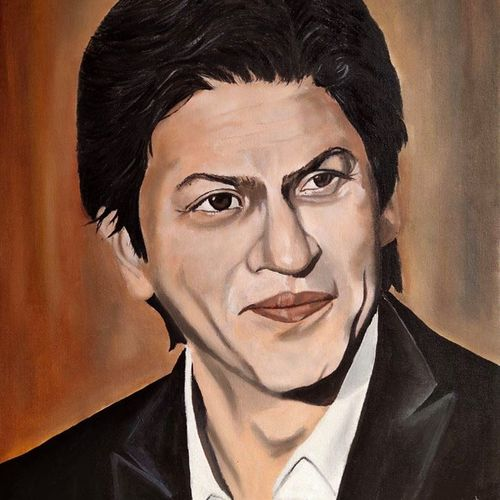 king khan, 16 x 20 inch, subhash gijare,16x20inch,canvas,paintings,portrait paintings,paintings for dining room,paintings for bedroom,paintings for office,paintings for bathroom,paintings for kids room,paintings for hotel,paintings for kitchen,paintings for school,paintings for hospital,acrylic color,oil color,GAL013830303