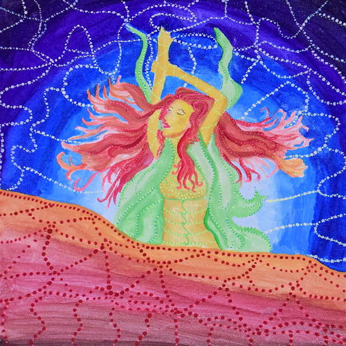 diva, 11 x 9 inch, shraddha ramteke,11x9inch,canvas,paintings,surrealism paintings,paintings for bedroom,paintings for bedroom,watercolor,GAL01874630306