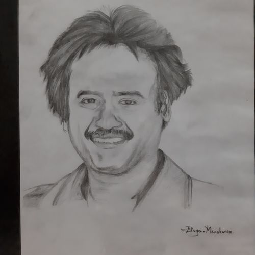 superstar rajinikanth, 13 x 10 inch, divya manoharan,13x10inch,drawing paper,drawings,fine art drawings,pop art drawings,portrait drawings,paintings for living room,paintings for hotel,charcoal,paper,GAL01875430321