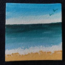 beachy, 3 x 3 inch, lekha  engineer ,3x3inch,canvas,paintings,landscape paintings,nature paintings | scenery paintings,paintings for dining room,paintings for living room,paintings for bedroom,paintings for office,paintings for bathroom,paintings for kids room,paintings for hotel,paintings for kitchen,paintings for school,paintings for hospital,acrylic color,GAL01873630329