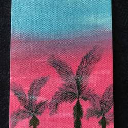 pink miami, 4 x 6 inch, lekha  engineer ,4x6inch,canvas,paintings,landscape paintings,nature paintings | scenery paintings,minimalist paintings,paintings for dining room,paintings for living room,paintings for bedroom,paintings for office,paintings for bathroom,paintings for kids room,paintings for hotel,paintings for kitchen,paintings for school,paintings for hospital,acrylic color,GAL01873630330