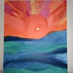 the sunset, 20 x 24 inch, sanya arora,20x24inch,canvas,paintings,abstract paintings,acrylic color,GAL01811630334