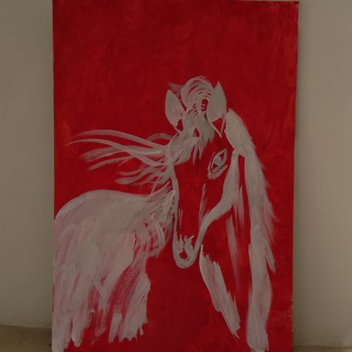 the free spirit -horse, 15 x 22 inch, sanya arora,15x22inch,canvas,paintings,abstract paintings,acrylic color,GAL01811630336