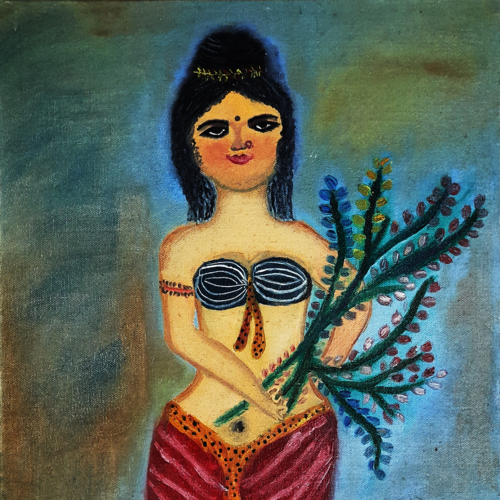 yogini, 35 x 45 inch, lopamudra ghosh,35x45inch,canvas,paintings,abstract paintings,figurative paintings,conceptual paintings,portrait paintings,paintings for dining room,paintings for living room,paintings for bedroom,paintings for hotel,oil color,GAL01878830390