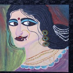 mrinalini, 35 x 45 inch, lopamudra ghosh,35x45inch,canvas,abstract paintings,figurative paintings,folk art paintings,conceptual paintings,portrait paintings,paintings for dining room,paintings for living room,paintings for bedroom,paintings for office,paintings for hotel,paintings for dining room,paintings for living room,paintings for bedroom,paintings for office,paintings for hotel,oil color,GAL01878830394