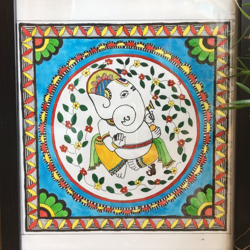 the colourful delight, 9 x 10 inch, meghana verulkar,9x10inch,paper,paintings,figurative paintings,art deco paintings,madhubani paintings   madhubani art,paintings for living room,paintings for kids room,paintings for hotel,paintings for school,poster color,ball point pen,paper,GAL01261530402