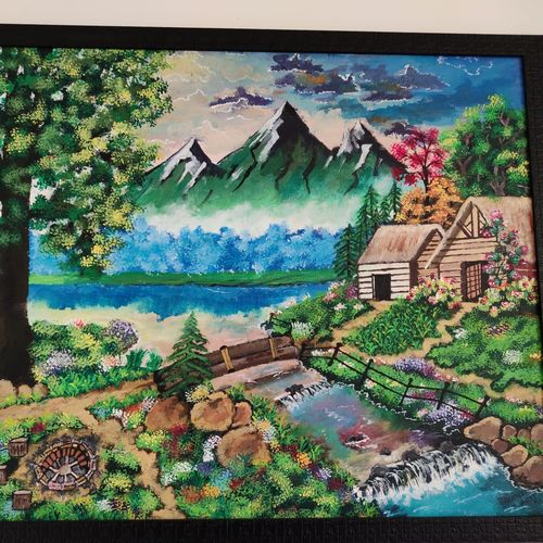 a dream home, 30 x 24 inch, prateek katariya,30x24inch,canvas board,paintings,landscape paintings,acrylic color,GAL01884930405