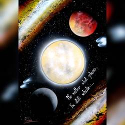 moon is a teacher, 21 x 29 inch, mihir godbole,21x29inch,thick paper,paintings,abstract paintings,conceptual paintings,paintings for bedroom,paintings for kids room,paintings for school,acrylic color,GAL01882130411