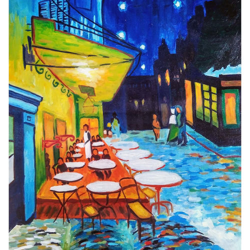 cafe terrace night, 24 x 29 inch, mehul  halpati,24x29inch,canvas,abstract paintings,impressionist paintings,paintings for dining room,paintings for living room,paintings for bedroom,paintings for office,paintings for hotel,paintings for kitchen,paintings for dining room,paintings for living room,paintings for bedroom,paintings for office,paintings for hotel,paintings for kitchen,acrylic color,GAL0507130447