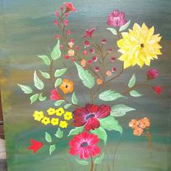 miracle of flowers, 30 x 24 inch, vandana shri,30x24inch,canvas,paintings,flower paintings,acrylic color,GAL01818430450