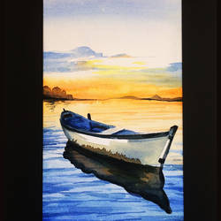 early morning seashore, 12 x 16 inch, suresh venugopal,12x16inch,handmade paper,paintings,water fountain paintings,watercolor,GAL01889130471