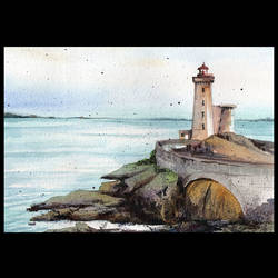 lighthouse, 16 x 12 inch, suresh venugopal,16x12inch,handmade paper,paintings,water fountain paintings,watercolor,GAL01889130504