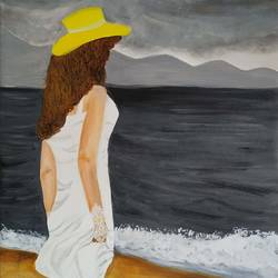girl willpower, 24 x 30 inch, neetu gupta,24x30inch,canvas,paintings,figurative paintings,conceptual paintings,art deco paintings,paintings for dining room,paintings for living room,paintings for office,paintings for kids room,paintings for hotel,paintings for school,paintings for hospital,acrylic color,GAL0112330517
