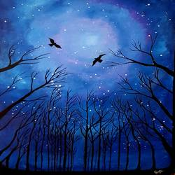 night sky, 24 x 35 inch, revathy r,24x35inch,hardboard,paintings,nature paintings | scenery paintings,paintings for dining room,paintings for living room,paintings for bedroom,paintings for office,paintings for hotel,paintings for school,paintings for dining room,paintings for living room,paintings for bedroom,paintings for office,paintings for hotel,paintings for school,acrylic color,GAL01321430536