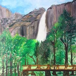 yosemite, 16 x 20 inch, swetha srinivasan,landscape paintings,paintings for bedroom,canvas,oil paint,16x20inch,GAL012013054