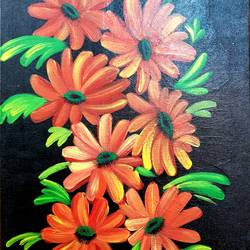 flowers, 24 x 35 inch, revathy r,24x35inch,hardboard,paintings,flower paintings,paintings for dining room,paintings for living room,paintings for bedroom,paintings for office,paintings for kids room,paintings for hotel,paintings for school,acrylic color,GAL01321430540