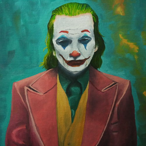 joker, 20 x 16 inch, sumit chandel,20x16inch,canvas board,paintings,figurative paintings,paintings for dining room,paintings for living room,paintings for bedroom,paintings for office,paintings for bathroom,paintings for kids room,paintings for hotel,paintings for kitchen,paintings for school,paintings for hospital,oil color,GAL01824230542