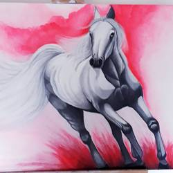 victory horse, 36 x 24 inch, shilpa chavan,36x24inch,canvas,paintings,horse paintings,acrylic color,GAL01899130545