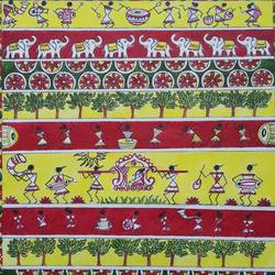 marriage worli art, 16 x 20 inch, sandhya kumari,16x20inch,canvas,paintings,wildlife paintings,figurative paintings,flower paintings,nature paintings | scenery paintings,animal paintings,love paintings,warli paintings,paintings for dining room,paintings for living room,paintings for bedroom,paintings for office,paintings for kids room,paintings for hotel,paintings for kitchen,paintings for school,paintings for hospital,acrylic color,GAL0365930573