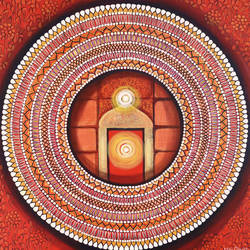 mandala- awekening light inside, 30 x 30 inch, nitu chhajer,30x30inch,canvas,religious paintings,acrylic color,GAL058230604