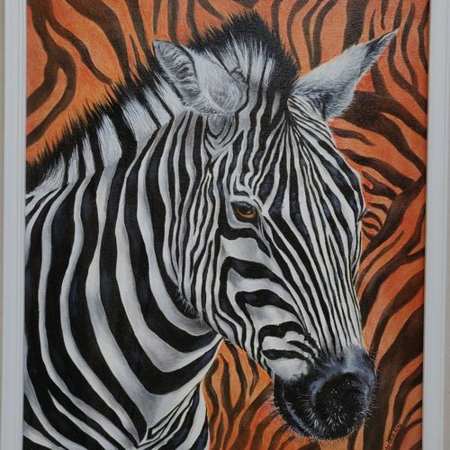 owning my stripes in a herd, 14 x 18 inch, mrinalini shingal,14x18inch,canvas board,paintings,wildlife paintings,nature paintings | scenery paintings,animal paintings,paintings for living room,paintings for bedroom,acrylic color,GAL01898330614