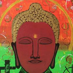 buddha2, 24 x 24 inch, samir lingwal,24x24inch,canvas,paintings,buddha paintings,paintings for dining room,paintings for living room,paintings for bedroom,paintings for office,paintings for hotel,paintings for school,paintings for hospital,paintings for dining room,paintings for living room,paintings for bedroom,paintings for office,paintings for hotel,paintings for school,paintings for hospital,acrylic color,GAL01818730618