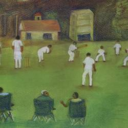 a cricket match, 11 x 16 inch, shashikant kolambkar,11x16inch,thick paper,drawings,realistic paintings,paintings for living room,paintings for bedroom,paintings for office,paintings for kids room,paintings for hotel,paintings for school,fine art drawings,paintings for dining room,paintings for living room,paintings for bedroom,paintings for office,paintings for hotel,paintings for school,pencil color,GAL01865930635
