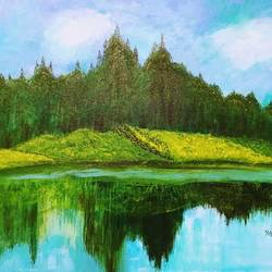 silent beauty, 20 x 16 inch, kajal lahariya,20x16inch,canvas,landscape paintings,nature paintings | scenery paintings,paintings for dining room,paintings for living room,paintings for bedroom,paintings for office,paintings for hotel,paintings for hospital,paintings for dining room,paintings for living room,paintings for bedroom,paintings for office,paintings for hotel,paintings for hospital,acrylic color,GAL01912030673