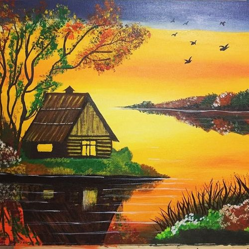 light of hope, 20 x 16 inch, kajal lahariya,20x16inch,canvas,landscape paintings,nature paintings | scenery paintings,paintings for dining room,paintings for living room,paintings for hotel,paintings for hospital,paintings for dining room,paintings for living room,paintings for hotel,paintings for hospital,acrylic color,GAL01912030676