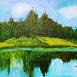 silent beauty, 20 x 16 inch, kajal lahariya,20x16inch,canvas,paintings,landscape paintings,nature paintings | scenery paintings,paintings for dining room,paintings for living room,paintings for bedroom,paintings for office,paintings for kids room,paintings for hotel,paintings for school,paintings for hospital,acrylic color,GAL01912030679