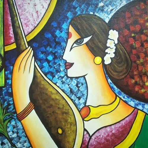 meera, 18 x 12 inch, kavya shrama,18x12inch,canvas,abstract paintings,figurative paintings,contemporary paintings,paintings for dining room,paintings for living room,paintings for bedroom,paintings for office,paintings for hotel,paintings for dining room,paintings for living room,paintings for bedroom,paintings for office,paintings for hotel,acrylic color,GAL01700930715
