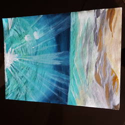 peaking sunlight, 12 x 16 inch, rasia arshad,12x16inch,canvas,paintings,nature paintings | scenery paintings,acrylic color,GAL01674730744
