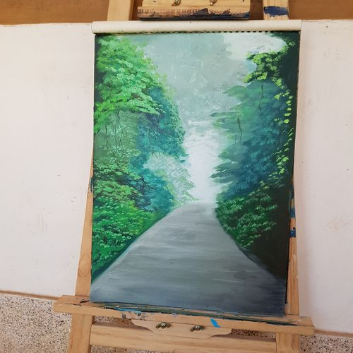 into the mist, 12 x 16 inch, rasia arshad,12x16inch,canvas,paintings,nature paintings | scenery paintings,oil color,GAL01674730745