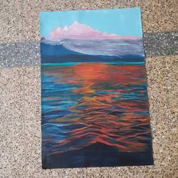 calm, 24 x 36 inch, rasia arshad,24x36inch,canvas,paintings,nature paintings | scenery paintings,acrylic color,GAL01674730747