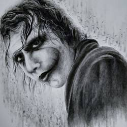 joker, 12 x 17 inch, sonal sahai,12x17inch,thick paper,paintings for living room,paintings for kids room,paintings for hotel,paintings for school,photorealism drawings,portrait drawings,paintings for living room,paintings for kids room,paintings for hotel,paintings for school,charcoal,paper,GAL01867230754