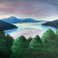 view of the lake, 12 x 17 inch, sonal sahai,12x17inch,canvas,landscape paintings,nature paintings | scenery paintings,paintings for dining room,paintings for living room,paintings for bedroom,paintings for office,paintings for bathroom,paintings for kids room,paintings for hotel,paintings for kitchen,paintings for school,paintings for hospital,paintings for dining room,paintings for living room,paintings for bedroom,paintings for office,paintings for bathroom,paintings for kids room,paintings for hotel,paintings for kitchen,paintings for school,paintings for hospital,oil color,GAL01867230758