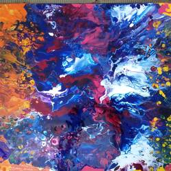 synchrony of colours, 18 x 24 inch, irene james,18x24inch,canvas,paintings,abstract paintings,paintings for dining room,paintings for living room,paintings for bedroom,paintings for office,paintings for bathroom,acrylic color,GAL01101930771