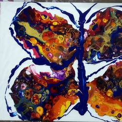 butterflies are hot too!, 12 x 16 inch, irene james,12x16inch,canvas,paintings,abstract paintings,paintings for dining room,paintings for living room,paintings for bedroom,paintings for office,paintings for bathroom,paintings for kids room,paintings for hotel,paintings for kitchen,paintings for hospital,acrylic color,GAL01101930772